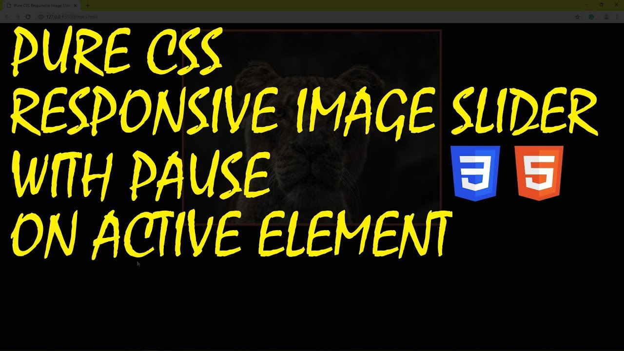 Pure CSS Responsive Image Slider With Pause On Active Element