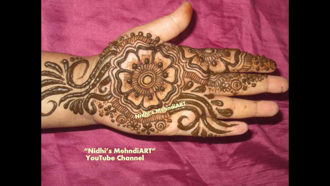 DIY Arabic Mehndi design Video for Front Hand- Floral Henna - YouTube