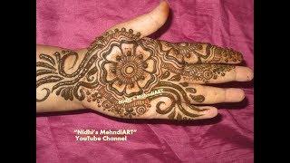 DIY Arabic Mehndi design Video for Front Hand- Floral Henna