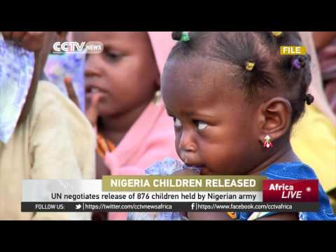 UN negotiates release of 876 children held by Nigerian army