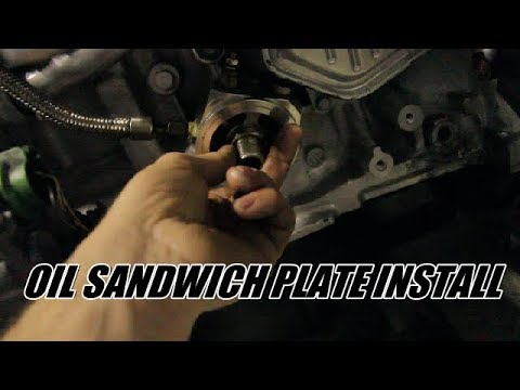 How to install an oil sandwich plate