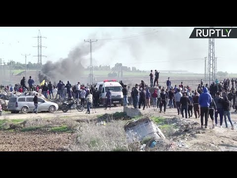 Day of rage: Protests at border crossing near Gaza city