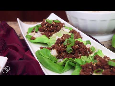 Asian Hamburger Lettuce Wraps