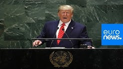 Donald Trump makes speech to the UN general assembly