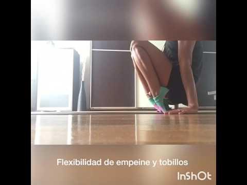 Flexibilidad de tobillos y empeines