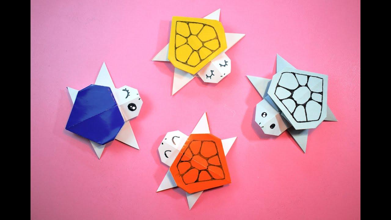 Origami Sea Turtle/折り紙タートル/How to make an easy turtle ... | 720x1280