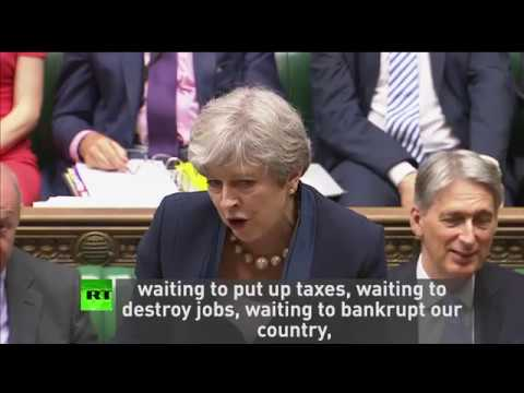 May & Corbyn trade insults in rowdy #PMQs
