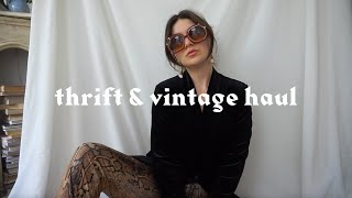 Try on thrift haul! (Depop, vintage and NYC thrifting)