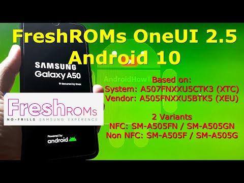 FreshROMs One UI 2.5 Android 10 for Samsung Galaxy A50