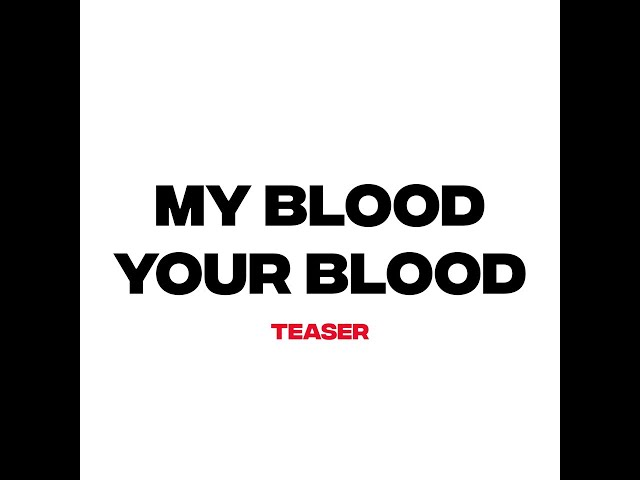 Frame of a video of My Blood Your Blood  Teaser speaking about the Odyssey project
