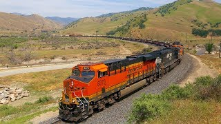 BNSF Military (Abrams Tanks) Train over Tehachapi