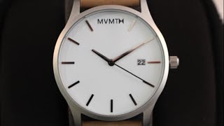 MVMT Watches White/Tan Leather Video Watch Review