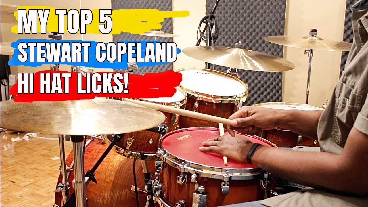 TOP 5 STEWART COPELAND HI-HAT LICKS And How To Play 'Em!