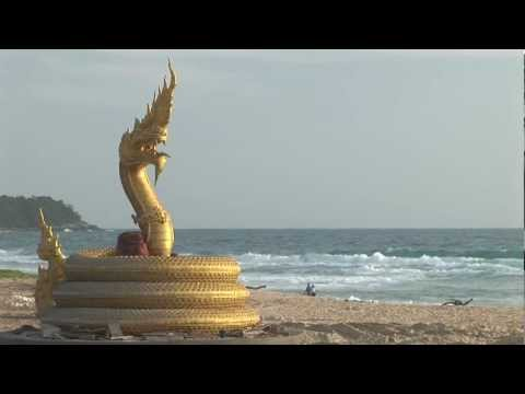 Karon Phuket Thailand Beach Golden Dragon with Hotels Bars Restaurants and Beachfront Sunset Views