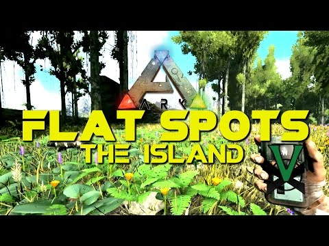 Big Flat Spots To Build On The Island Map! | Easier Base Building PVE PVP | ARK: Survival Evolved