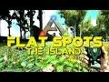 ARK Flat Base Locations Island Map! | Easier Base Building PVE PVP | ARK: Survival Evolved