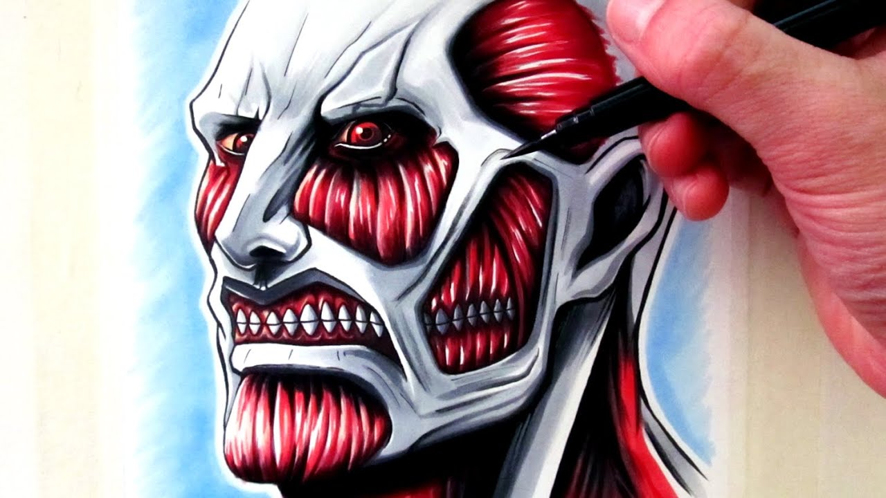 Let's Draw the Colossal Titan - Attack on Titan - YouTube