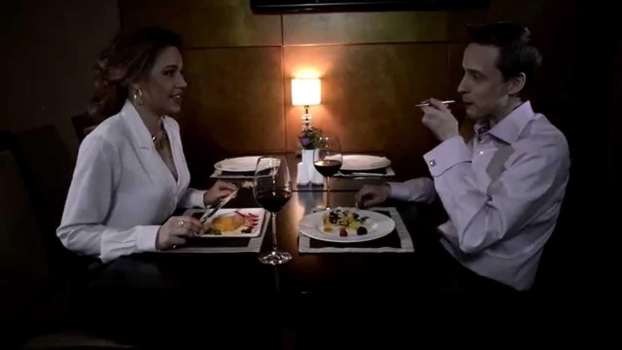Романтический секс во время ужина видео