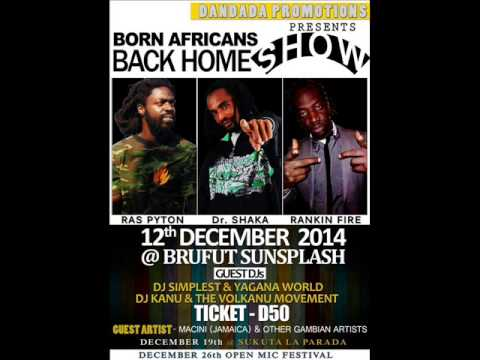 DR SHAKA NAZARIN - Come my way + BORN AFRICANS REUNION - Promo   2014