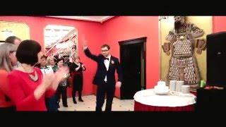 Флешмоб жениха и невесты (ведущая Евгения Резниченко)