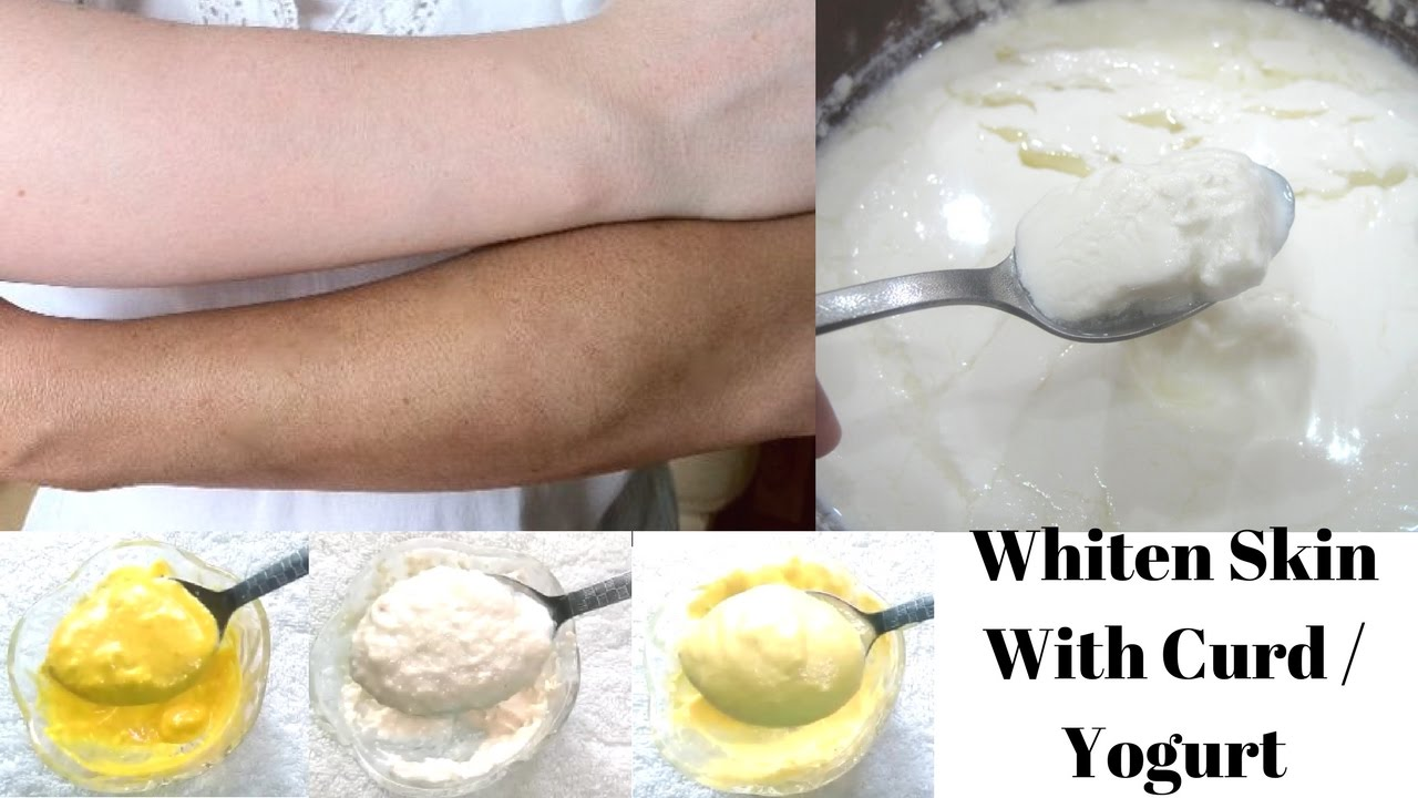 Fairness with curd Yogurt Skin lightening with curd