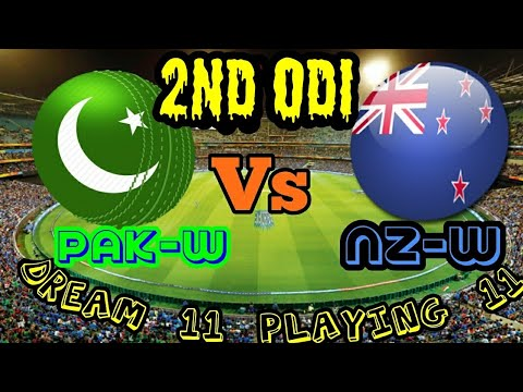 PAK-w VS NZ-w 2nd ODI dream11 HALAPLAY TEAMS