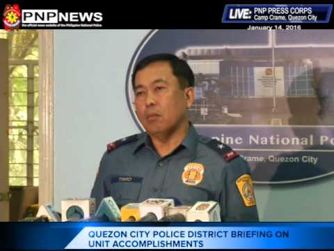 Quezon City Police District briefing on unit accomplishments (Jan. 14, 2016)