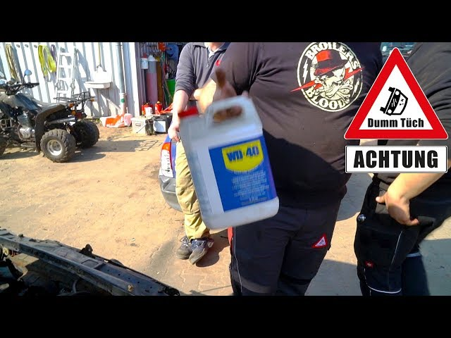 WD40 als Sprit - Falsch getankt was passiert? Alternative Kraftstoffe   Dumm Tüch