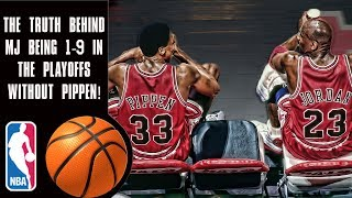 The truth behind Michael Jordan's 1-9 playoff record before Scottie Pippen!