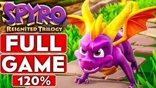 SPYRO REIGNITED TRILOGY Full Game 120% Walkthrough (Spyro The Dragon ALL Dragons, Gems & Eggs)