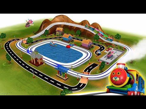 Wooden Cartoon Thomas Toy Train City for kids | Kids Videos for Kids By Toy Factory - Cartoon Train