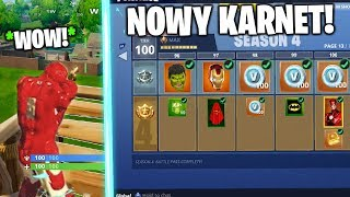 SEASON 4 BATTLE PASS in FORTNITE! * SUPERHEROES * NEW UPDATE-NEW BATTLE PASS