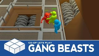 Gang Beasts - Grind, Gondola and Wheel - 3 Player Co-Op Gameplay