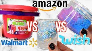 Walmart VS Wish VS Amazon Slime Review! Is It Worth It?!