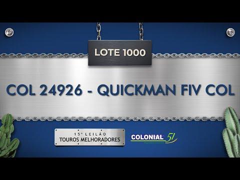 LOTE 1000   QUICKMAN FIV COL