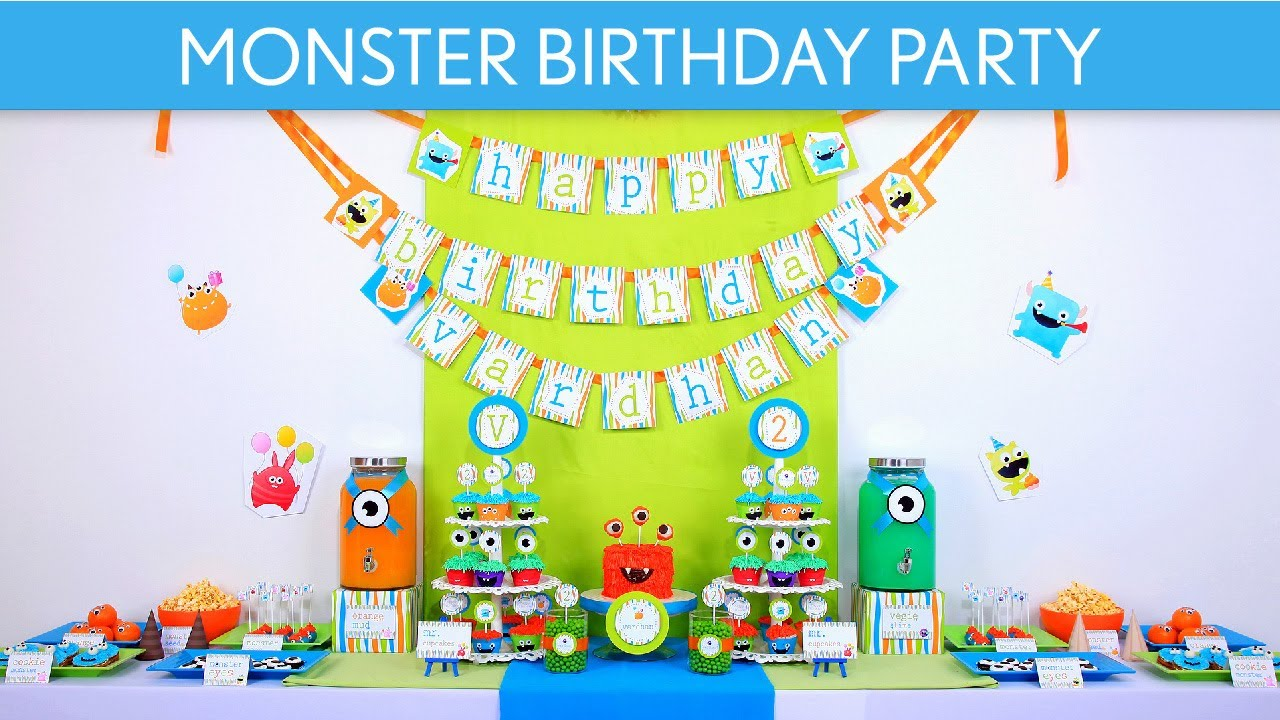 Diy Monster Party Decorations