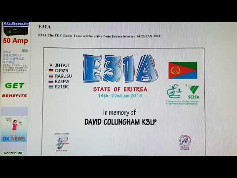 E31A, Eritrea AFRICA, 3.5MHz, CW, 2018, Worked by HL2WA