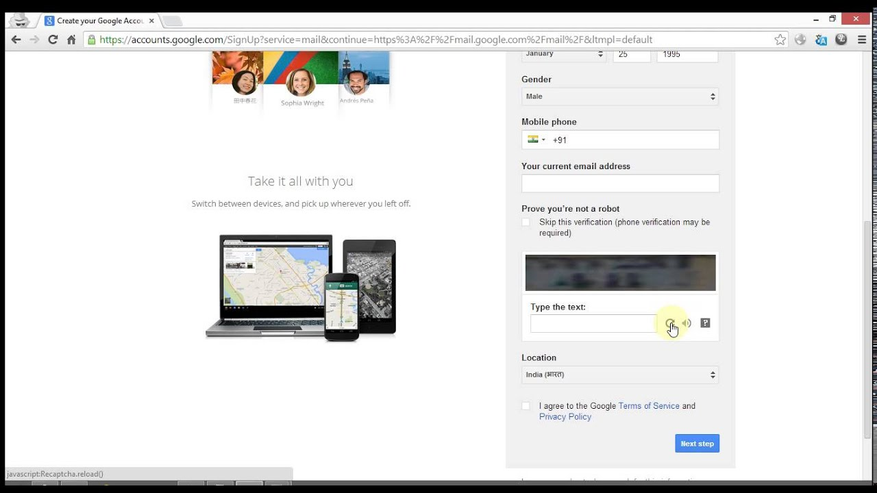Image Result For How To Make A Gmail Account Without A Phone