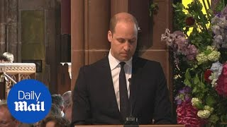 Prince William delivers moving words during Manchester service - Daily Mail