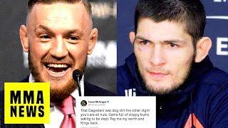 "Video Conor McGregor Says Khabib's UFC 219 Performance was ""Dog S***!""Khabib Responds! download MP3, 3GP, MP4, WEBM, AVI, FLV November 2018"