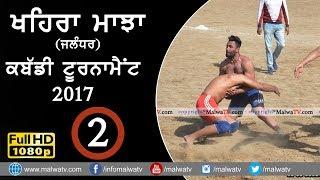 KHAIRA MAJJA (Kapurthala) | KABADDI TOURNAMENT - 2017 | Full HD | Part 2nd