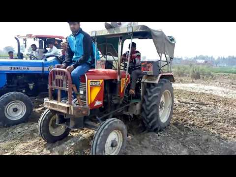 eicher sonalika & eicher 557 tractor participate in Rithal tractor competition