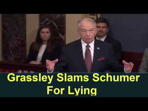 BREAKING:Grassley Slams Schumer For Lying: He Knew Trump Wasn't Under Investigation