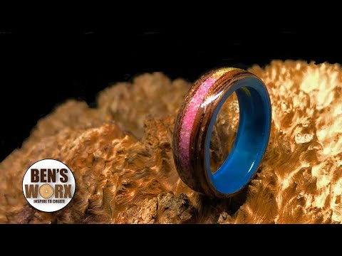 Making a bentwood ring from Blackwood and epoxy resin