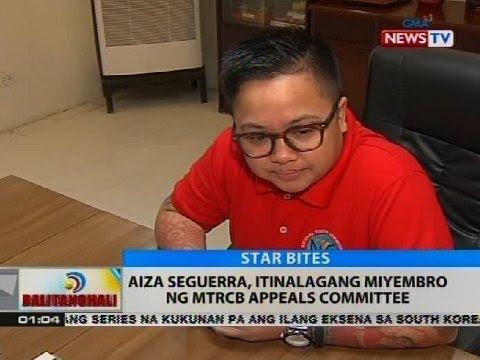 Aiza Seguerra, itinalagang miyembro ng MTRCB appeals committee