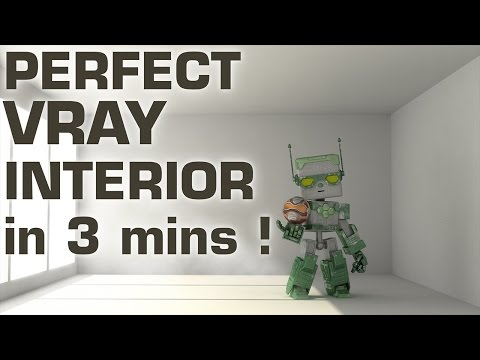 Perfect VRay Interior Tutorial in 3mins !