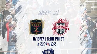Bethlehem Steel FC vs Toronto FC USL full match