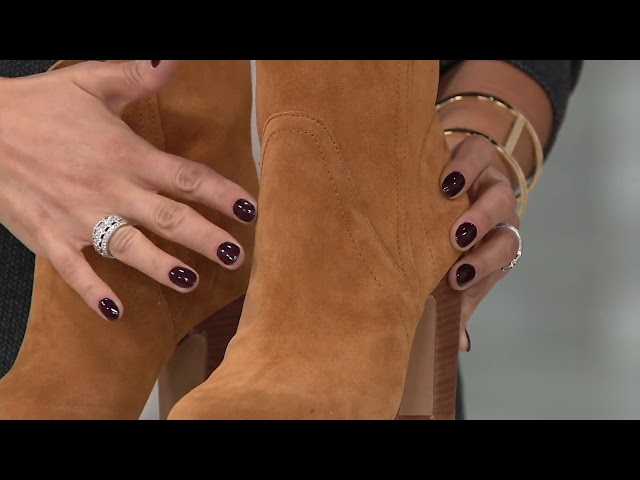 Vince Camuto Suede Ankle Boots - Creestal on QVC