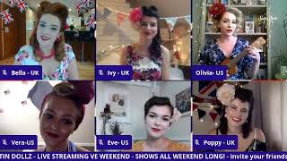 SATIN DOLLZ LIVE STREAM: Afternoon Tea & Tunes with the UK & US Satin Dollz