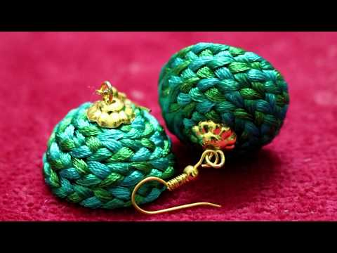 silk thread Jhumka earrings making || Silk Thread jewellery Making || Art Beauty Corner
